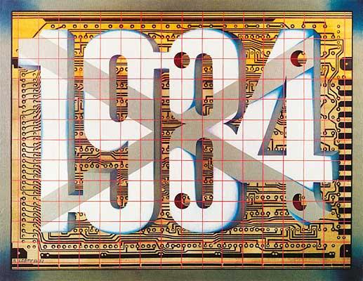 1984, 1980/81, aus der Reihe Zahlenlandschaften, Gemälde: D. Losito