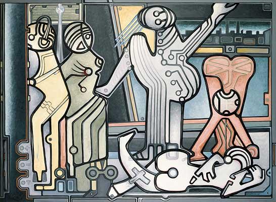 5 Girls da Berlin, 1987/88, Gemälde: D. Losito
