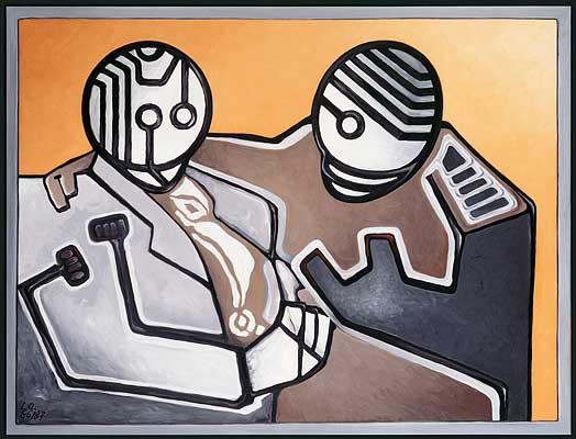 Cornuto mephisto, 1986/87, Gemälde: D. Losito