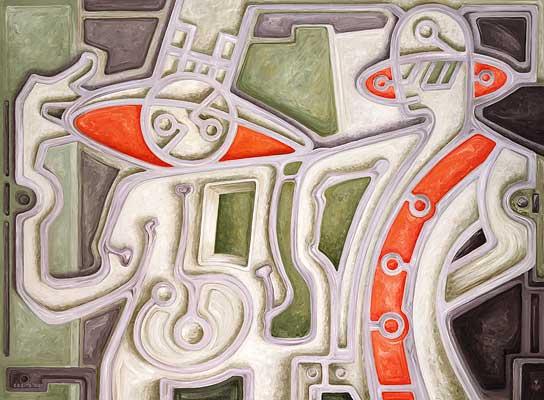 Alta moda, 1988/89, Gemälde: D. Losito