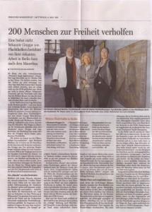 Artikel in der Berliner Morgenpost über die Fluchthilfegruppe rund um Donatello Losito