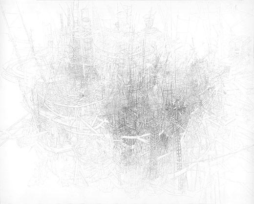 "CHRISTIAN PILZ ""Ohne Titel"" 2013/15 | Bleistift auf Papier | 120 x 150 cm"