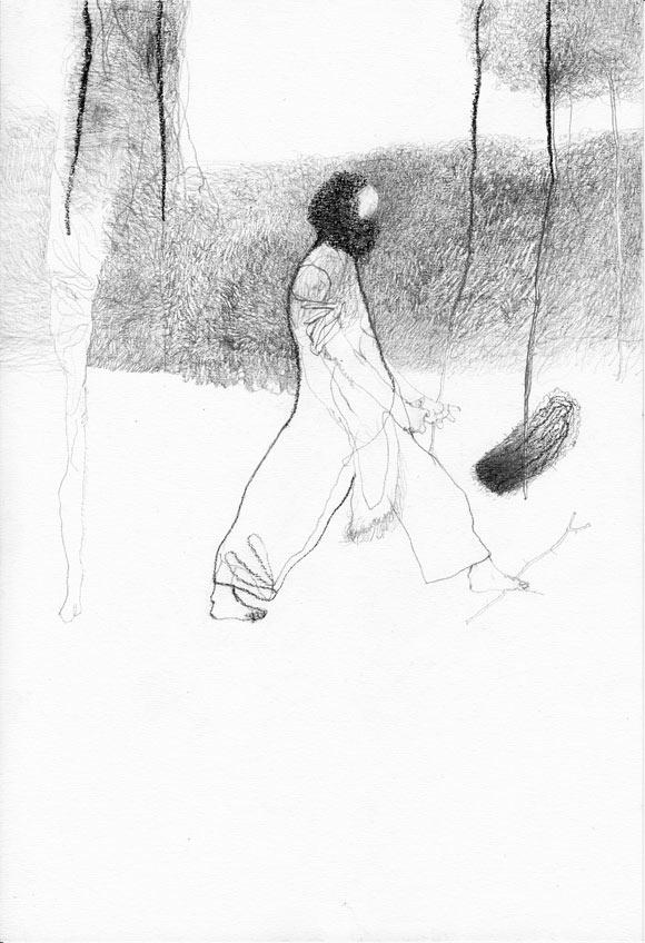 Hagen Klennert »Tortur und Widerstand« 2012 Kohle, Bleistift auf Papier 29,7 x 21cm