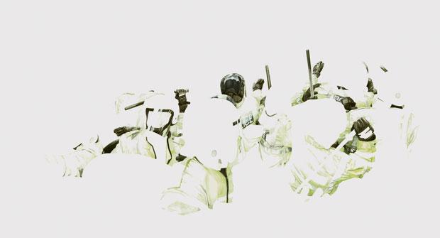 Achim Riethmann »G 10« 2011 Aquarell auf Papier 100 x 180 cm