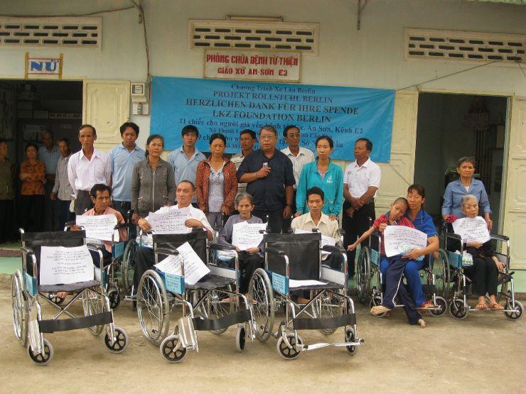 Rollstühle für Vietnam